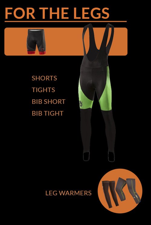 cycling clothing for the legs