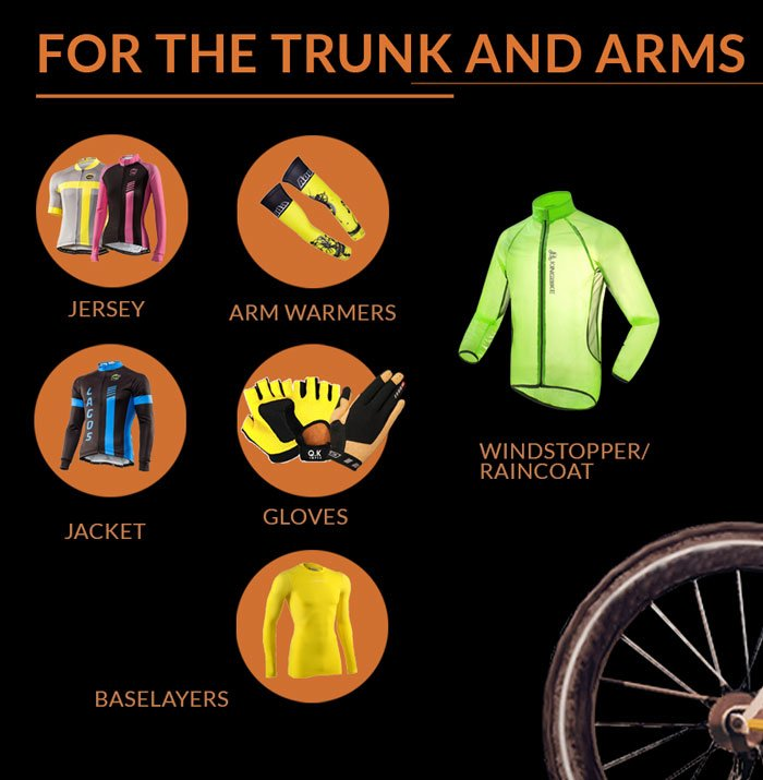 Cycling clothing for the Trunk